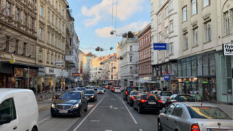 Weihnachtsbeleuchtung Landstraßer Hauptstraße